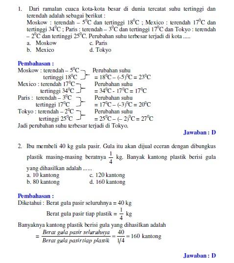 Soal Un Matematika Smp 2007 Bank Soal Ujian