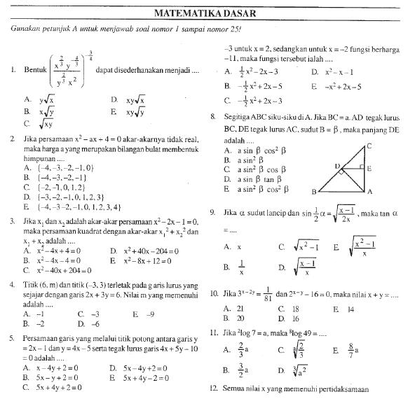 Soal Ujian Masuk Universitas Bank Soal Ujian