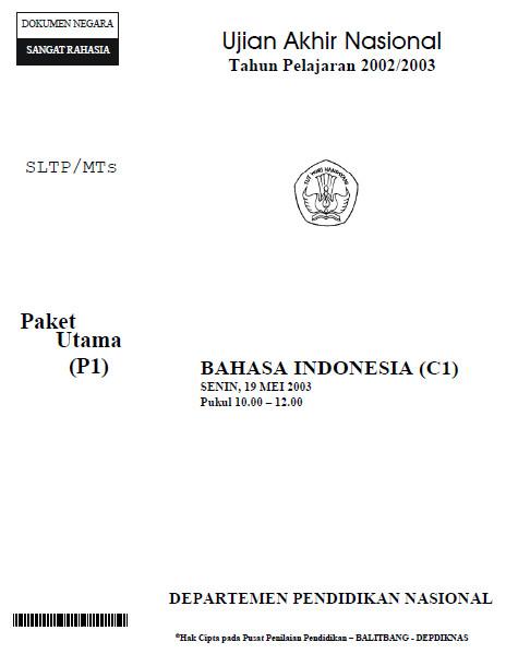 Soal Ujian Nasional Un Smp 2003 Soalujian Net