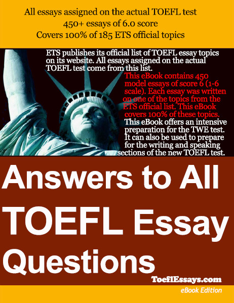 answers to all toefl essay questions book