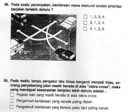 Soal Ujian SIM dan Kunci Jawabannya - SoalUjian.Net