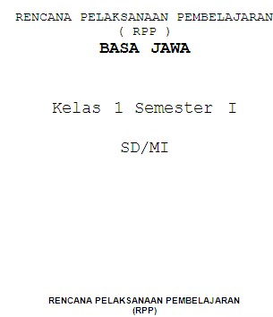 Penggalan Rpp Bahasa Jawa Sd Kelas 4 Bank Soal Ujian