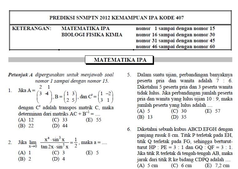 Snmptn Sbmptn Prediksi Soal Snmptn Kisi Kisi Berita Sepak Bola Indonesia Terkini