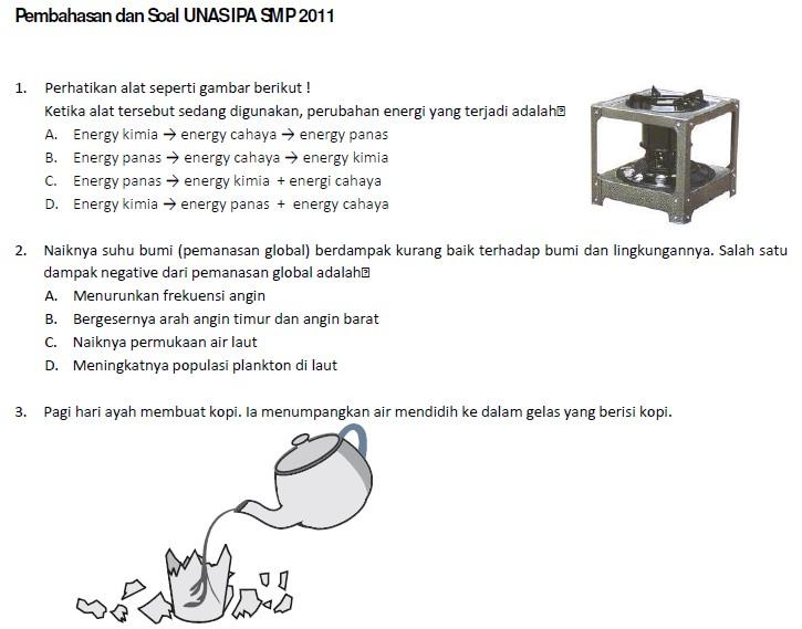 Soal Dan Pembahasan Ujian Nasional Ipa Smp 2011 Soalujian Net