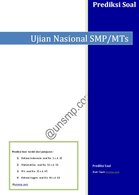 Prediksi Soal Ujian Nasional Smp 2014 Soalujian Net