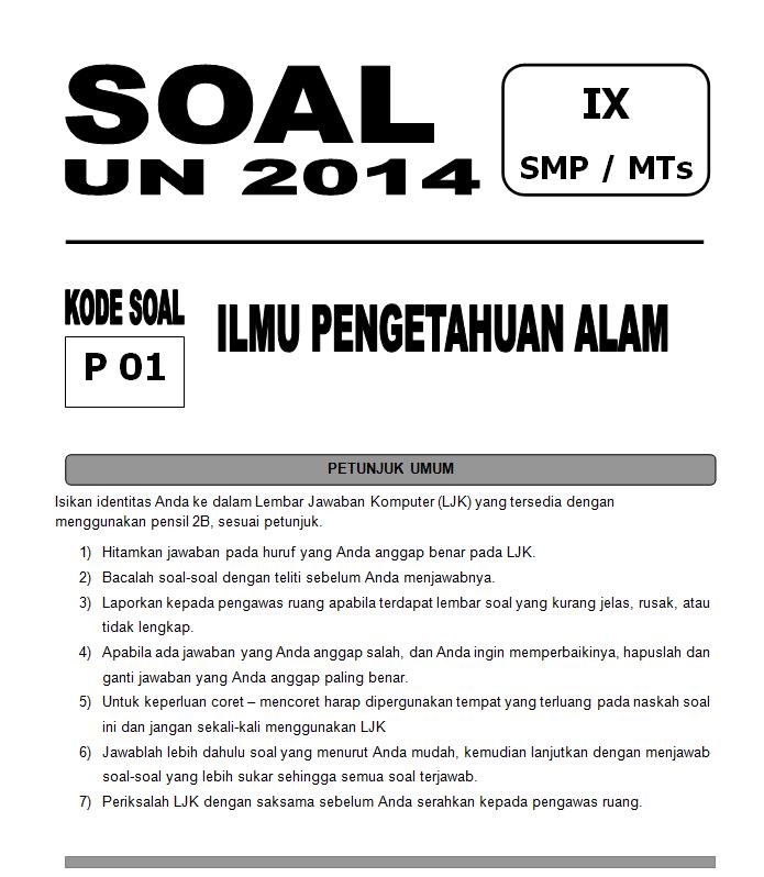 Soal Un Ipa Sms 2014 Bank Soal Ujian