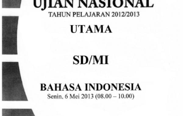 Soal Ujian Nasional / UASBN SD tahun 2013 - SoalUjian.Net