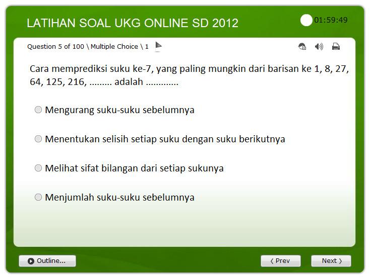 Aplikasi Soal Latihan Ukg Sd Online Soalujian Net