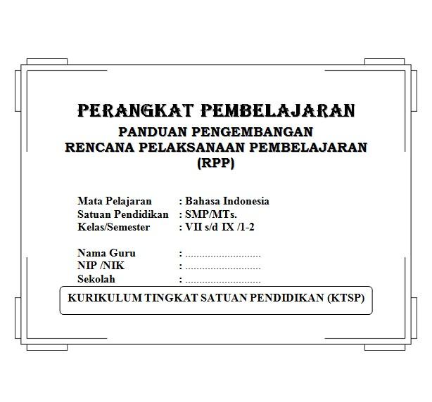 Perangkat Pembelajaran Bahasa Indonesia Smp Kelas 7 8 9 Ktsp Soalujian Net